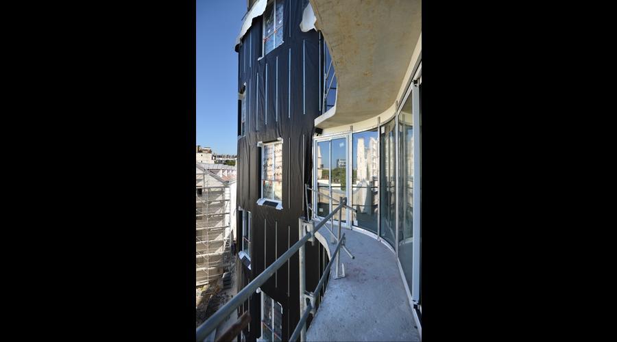 Chantier de construction Façade F4 : potentiel esthétique - Paris ...